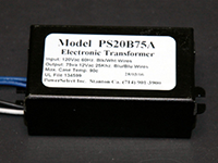 PS20B75A - 12Vac 75-Watt Electronic Transformer