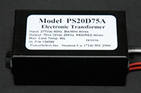 PS20D75A - 277Vac/12Vac 75-Watt Electronic Transformer
